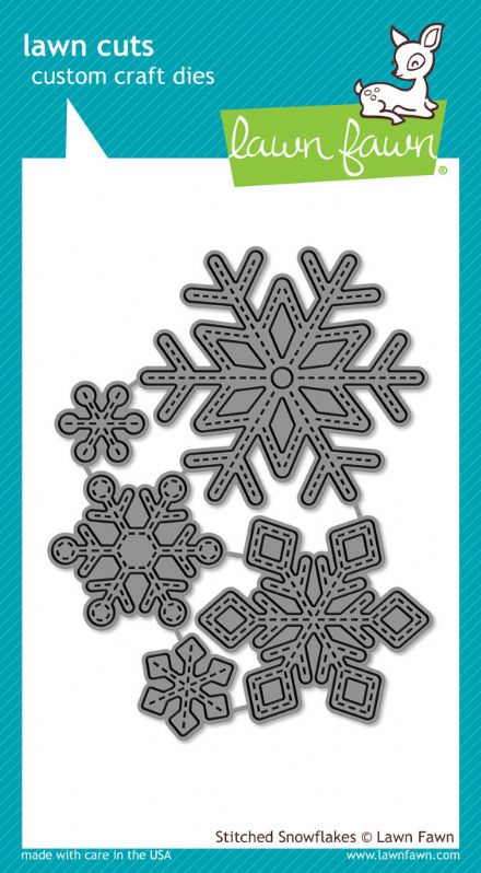 LF0775 ~ STITCHED SNOWFLAKES ~ DIES BY LAWN FAWN